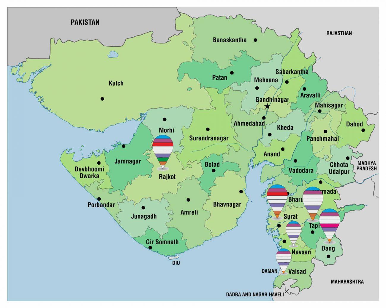 pect-gujarat-map